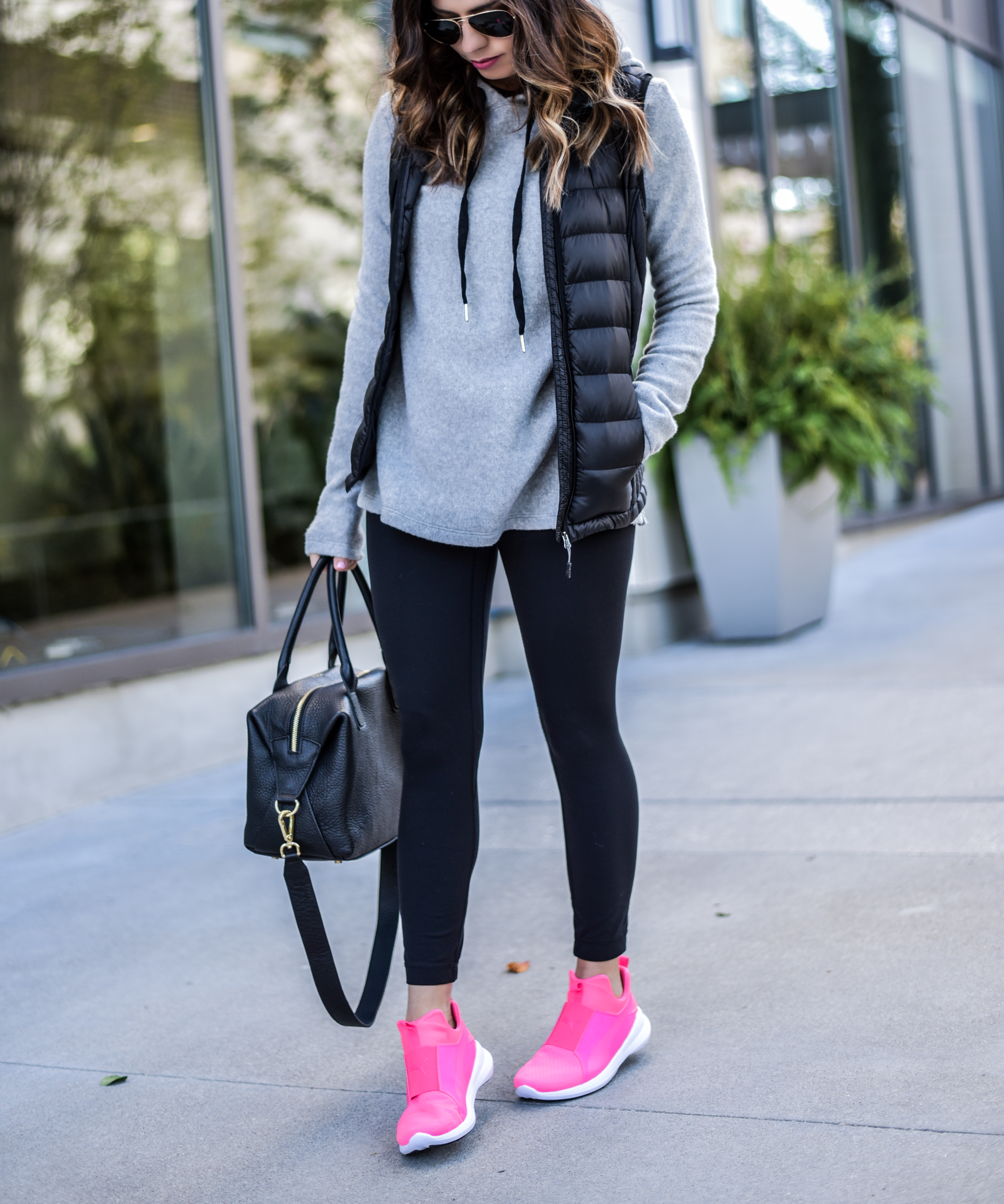 Loving how well these pink puma's go with everyday wear |