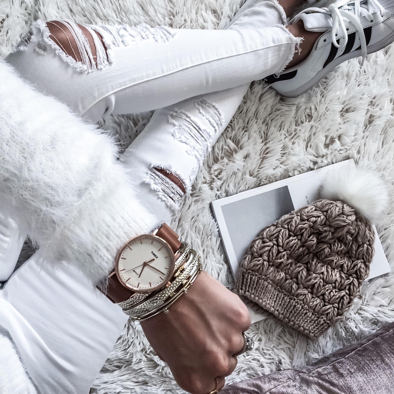 Houston fashion blogger Tiffany Jais wearing arm bling by Timex and Kendra Scott