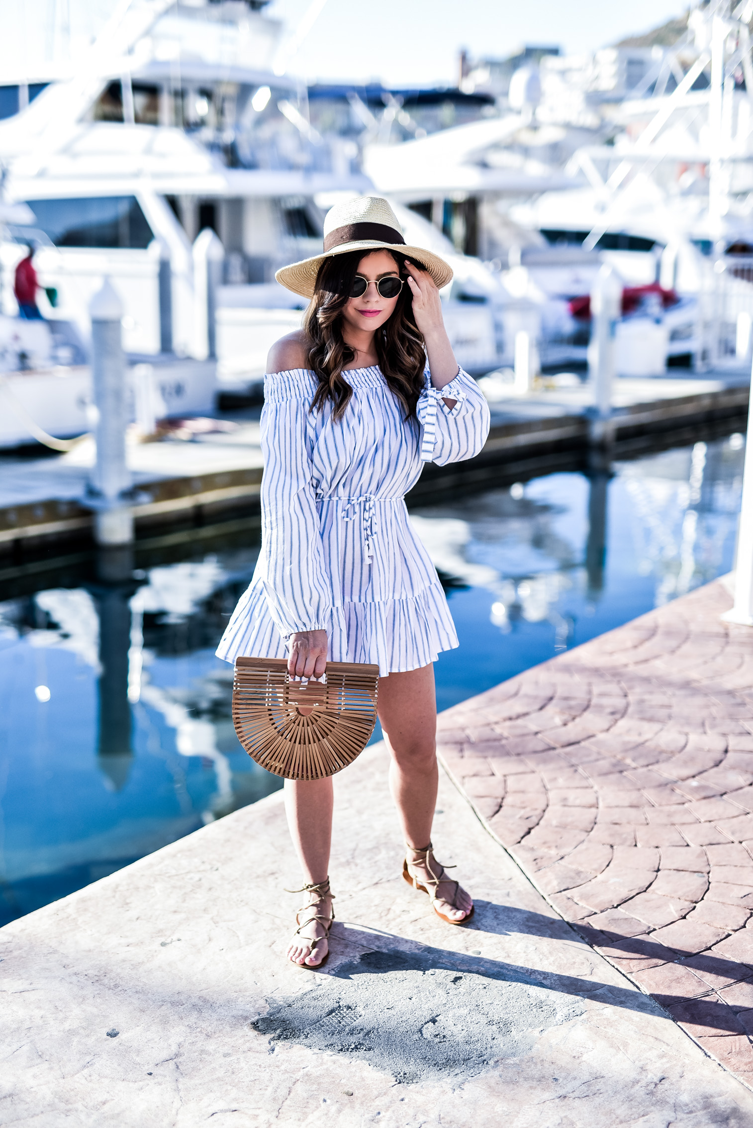 Loving this stripped dress for vacation, click to shop the look! | Houston fashion blogger, Cabo San Lucas, Stripped dress, Outfit ideas for spring 2017, Cabo San Lucas travel