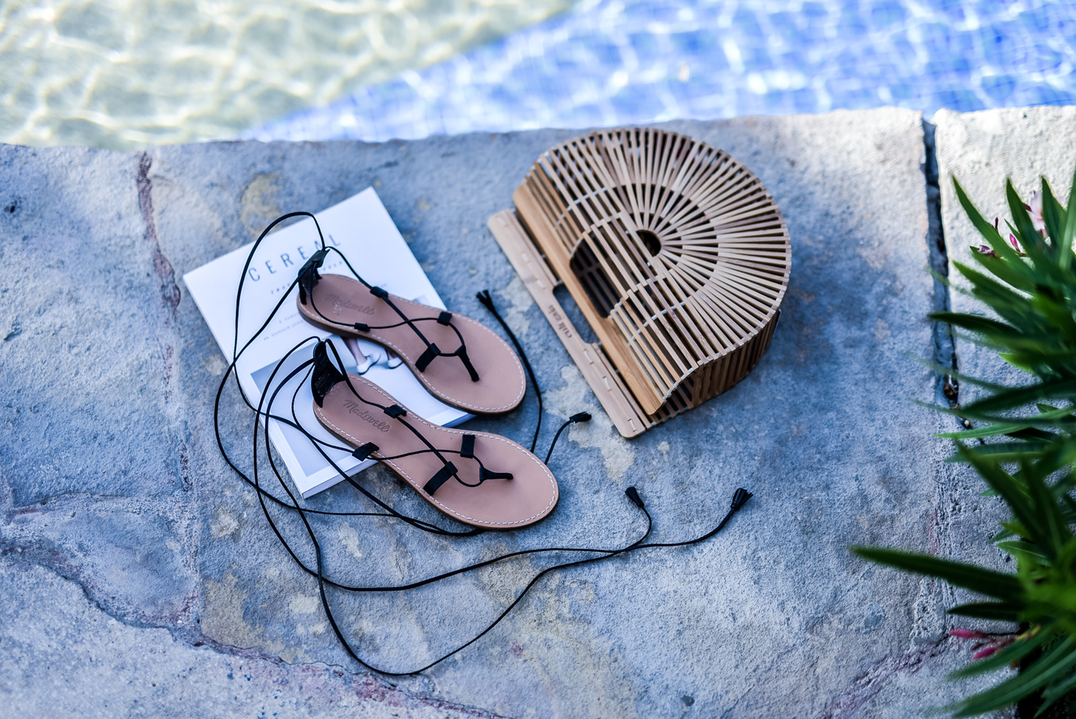 Houston fashion and lifestyle blogger Tiffany Jais | Lace up made well sandals, Cult gaia bag, spring trends 2017