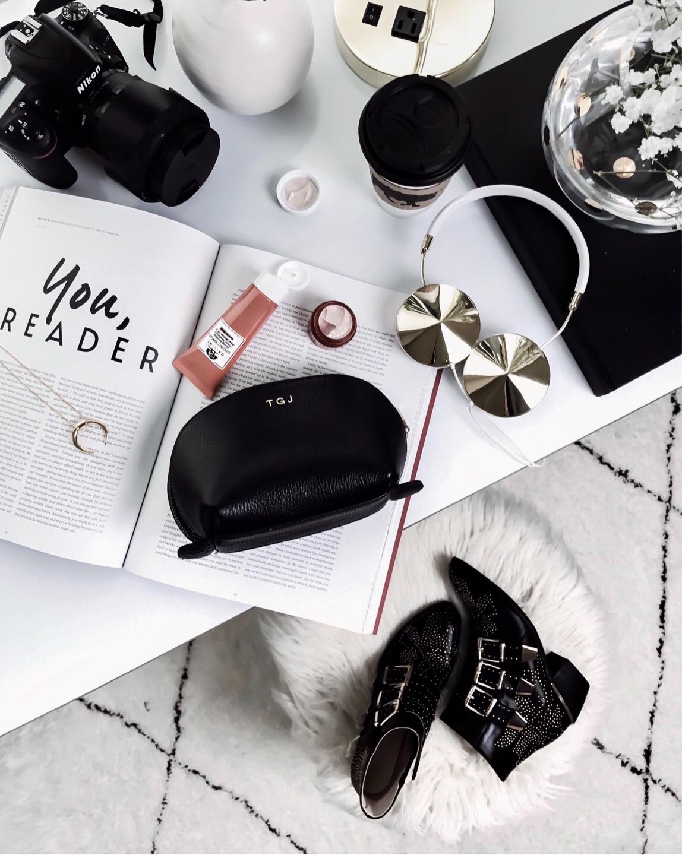 Tiffany Jais Houston fashion and lifestyle blogger | flatlay photo, chloe studded boots