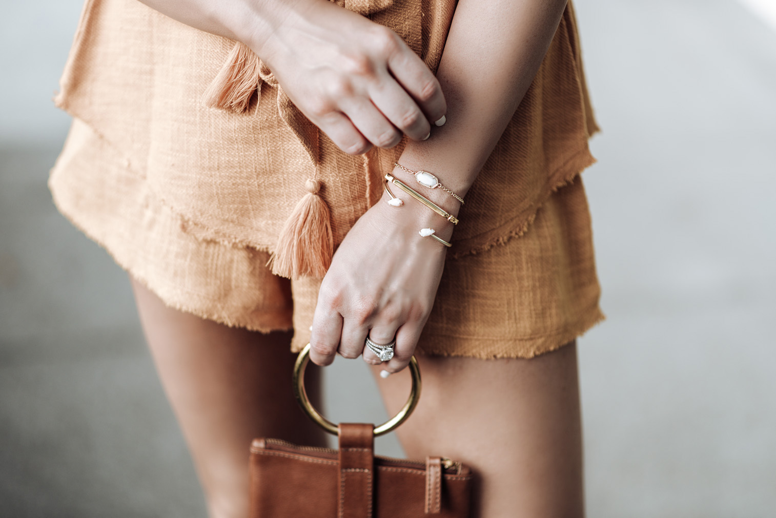 Free People So Simple Set (Size small)   Kendra Scott Elaina bracelet & the Jackson Pinch bracelet(Available at Kendra Scott at the Rice Village Shopping Center)   Mini Marie Pendant   Signature Bandle Monica Vinader   OTAAT/MYERS Collective Ring pouch