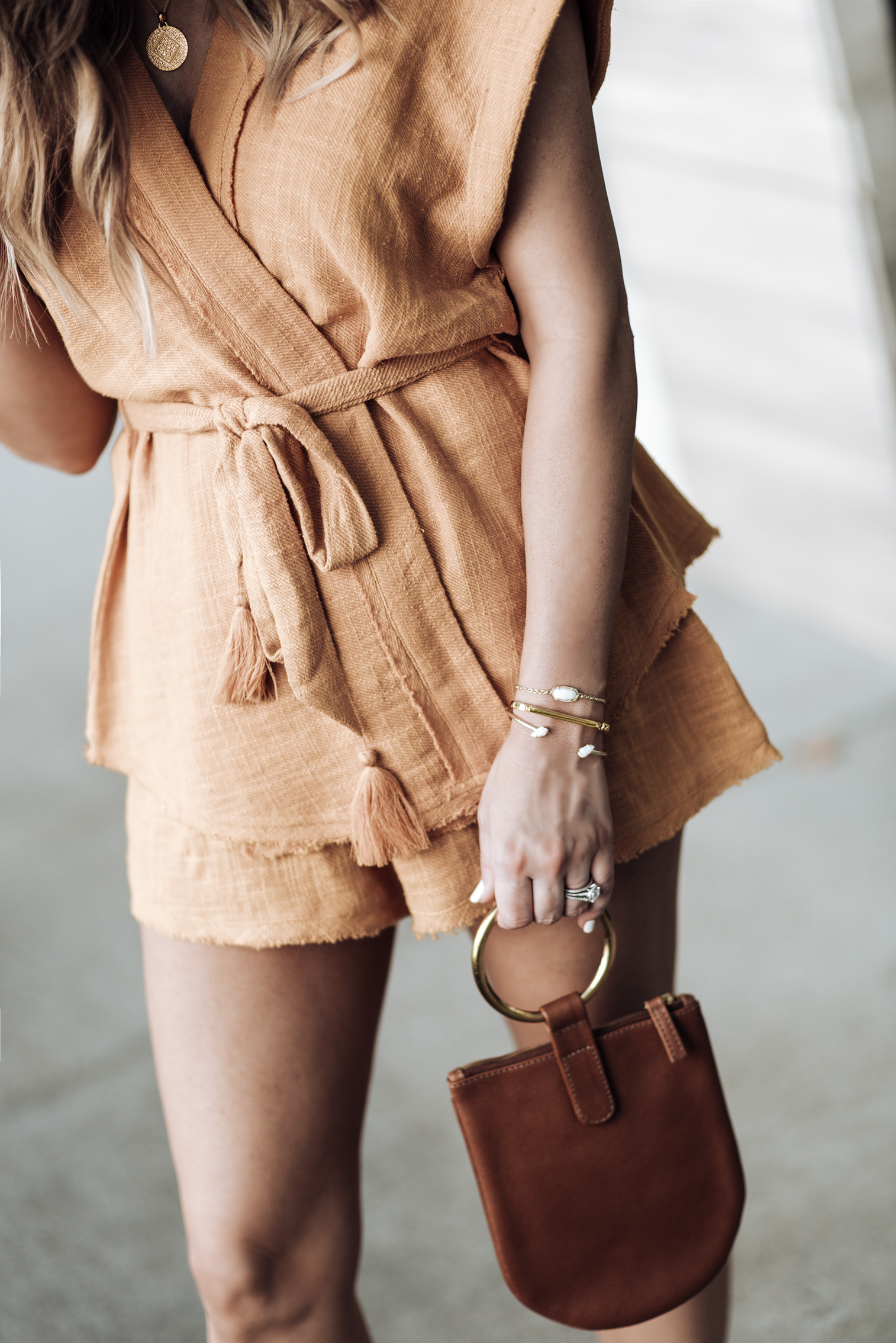 Free People So Simple Set (Size small) | Kendra Scott Elaina bracelet & the Jackson Pinch bracelet(Available at Kendra Scott at the Rice Village Shopping Center) | Mini Marie Pendant | Signature Bandle Monica Vinader | OTAAT/MYERS Collective Ring pouch