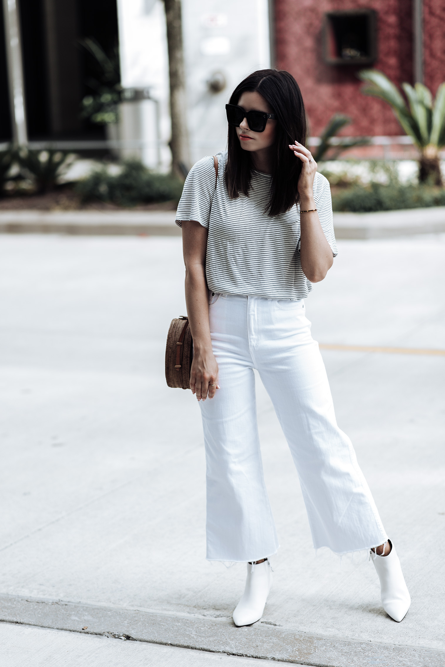 """White denim jeans """"The Yvette"""" By AG Jeans 