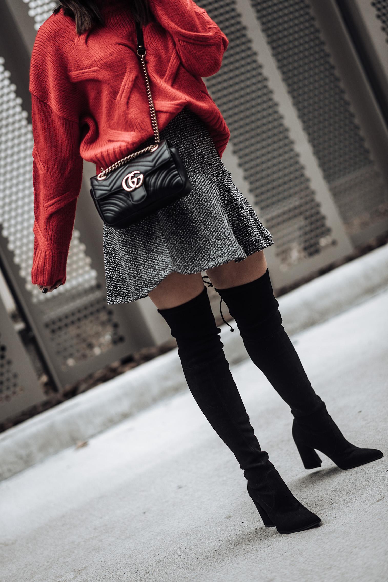 Tiffany Jais fashion and lifestyle blogger of Flaunt and Center | Houston fashion blogger | After Christmas sales | Streetstyle blog | Stuart Weitzman boots