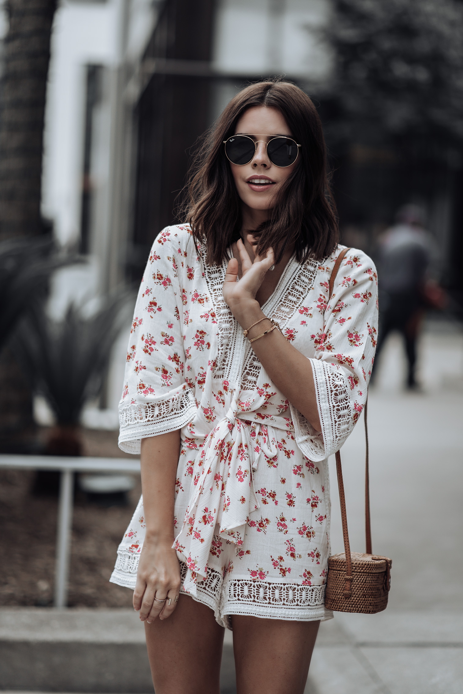 Floral Set | Platform Oxfords | Straw Bag | #liketkit #floralset #strawbag #streetstyle