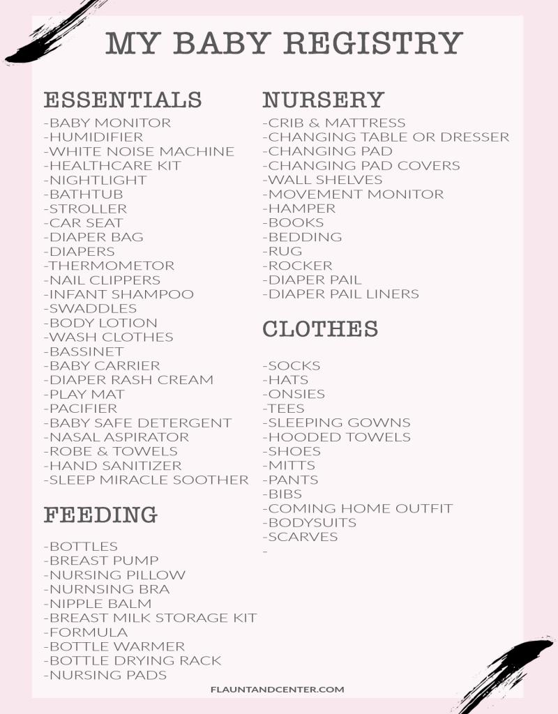 baby registry | baby checklist, baby, baby essentials #baby #newborn