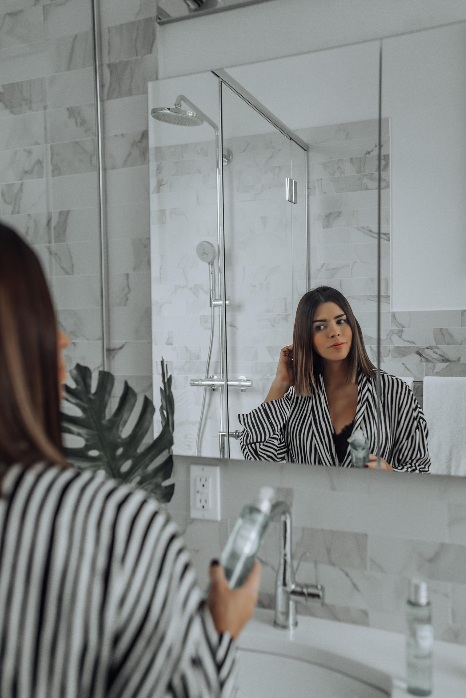 Reset your skincare with L'Occitane  Aqua Reotier Water Gel Cleanser   Aqua Reotier Moisture Prep Essence   Overnight Reset Oil-In-Serum #beautyproducts #pregnancysafeskincare