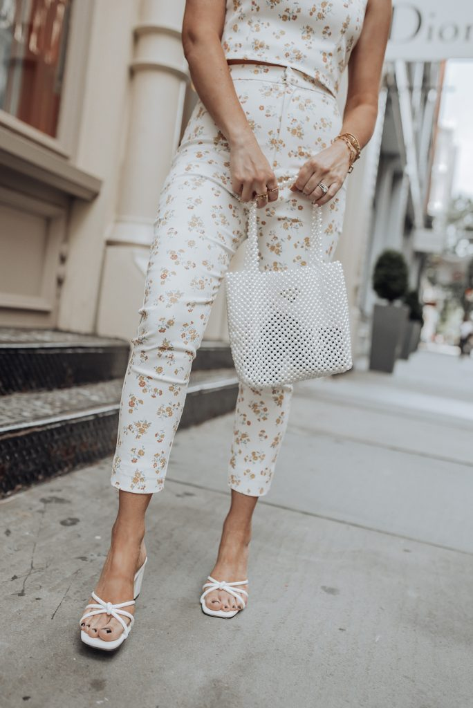 Floral Matching Set via Verge Girl | Heels via Verge Girl | Beaded Pearl Bag |Pearl Earrings |Happy hump day babes! Sharing this really cute two piece set from Verge Girl that I'm completely obsessed with! Verge Girl has been killing it lately, I literally want everything on their website right now. So consider your wallets warned! #streetstyleblog#tumblr #fashion #style #love #instafashion #ootd #girly #model #fashionable #fashiondiaries #vergegirl